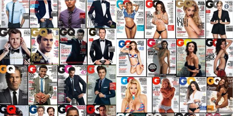 d3b4de4b68e5d Hombres de traje y mujeres semidesnudas  así las portadas de GQ ...