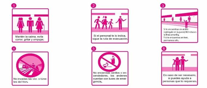 qué hacer durante sismo en la estación del metro