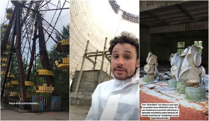 collage Luisito Comunica le parece divertida la tragedia de Chernobyl stories